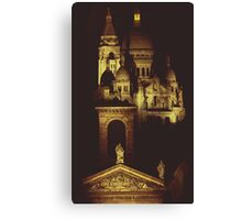Sacre Coeur by Night Canvas Print