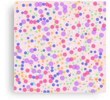 Dots on Pink Background Canvas Print