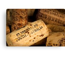 Clare Valley bottle cork Canvas Print