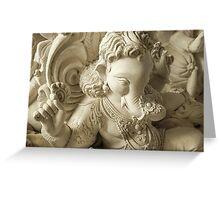 Moods of Lord Ganesh & the making of idols #6 Greeting Card