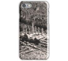 Temple of Apollo and Theatre, Delphi 1960, Sepia iPhone Case/Skin
