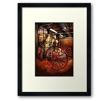Fireman - One day, a long time ago  Framed Print