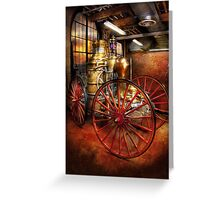 Fireman - One day, a long time ago  Greeting Card