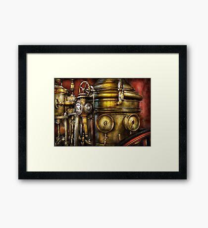 Fireman - The Steam Boiler  Framed Print
