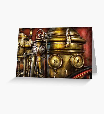 Fireman - The Steam Boiler  Greeting Card