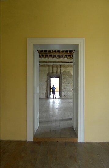 Boy in the Doorway, Kirby Hall by Veterisflamme