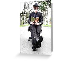 Outdoor Office Man Greeting Card