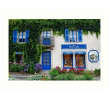 Brittany Biscuits shop in Pont-Aven Art Print