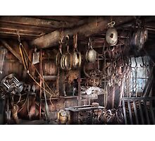 Boat - Block and Tackle Shop  Photographic Print