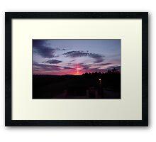 Strange sky over Grainan - Donegal Ireland  Framed Print