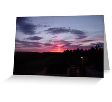 Strange sky over Grainan - Donegal Ireland  Greeting Card