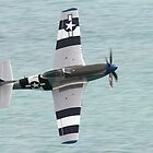 P51 Mustang Low Level at Eastbourne by Shane Ransom