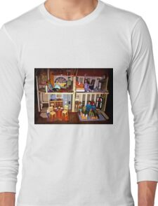 DOLLS IN DOLL HOUSE PICTURE and OR CARD,KIDS TRAVELS MUGS,DOLLS DOLL HOUSE DECORATIVE PILLOW AND OR TOTE BAG Long Sleeve T-Shirt