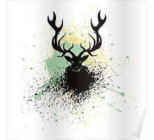 Grunge Stag Poster