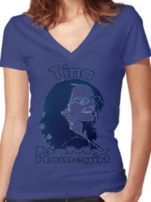 Tina Is My Homegirl Women's Fitted V-Neck T-Shirt