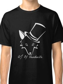 "The QJ Of Vaudeville ""Coyote"" Black and White Classic T-Shirt"