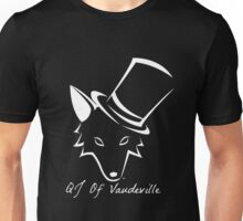 """The QJ Of Vaudeville """"Coyote"""" Black and White Unisex T-Shirt"""