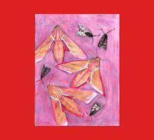 Hawk Moths and Burnet Moths on pink background  Unisex T-Shirt