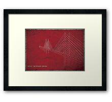 Boren (the bridge tv show) Framed Print