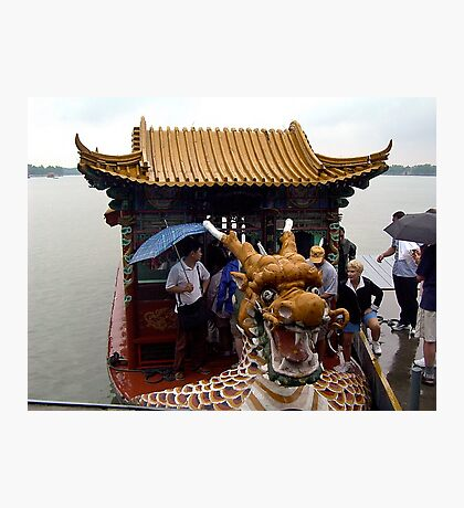 In the belly of the dragon..... boat that is! Photographic Print