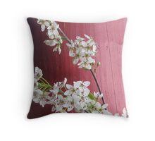 Cherry Blossum Throw Pillow