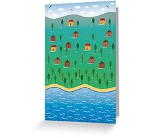 Naiive Landscape Greeting Card