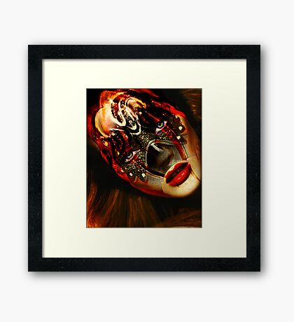 "Fashion Trend ""Mask series"" Framed Print"