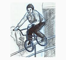 BMX Biker on Rail Unisex T-Shirt