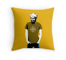 Hipster Bin Laden Throw Pillow