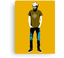 Hipster Bin Laden Canvas Print