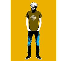 Hipster Bin Laden Photographic Print