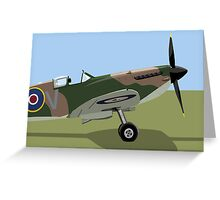 Spitfire WW2 Fighter Greeting Card