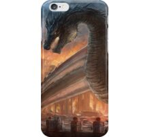 Epic dragon  fight, elven maid, Smaug, Lotr iPhone Case/Skin