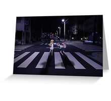 Monogatari – Mayoi and Shinobu crosswalk Greeting Card