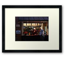 ...But let me tell YOU something........... Framed Print
