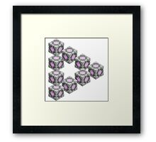 Companion Cube Illusion  Framed Print