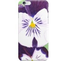 White and purple Pansies flowers iPhone Case/Skin