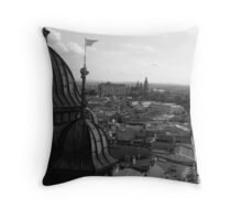 Krakowian Vista - St Mary's Basilica, Krakow, Poland Throw Pillow