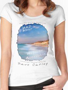 Dave Catley Landscape Photographer - Fine Art T-Shirt (Quinns Rocks) Women's Fitted Scoop T-Shirt