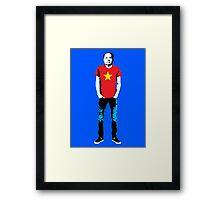Hipster Mao Framed Print