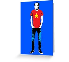 Hipster Mao Greeting Card