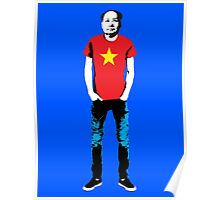 Hipster Mao Poster