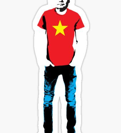Hipster Mao Sticker