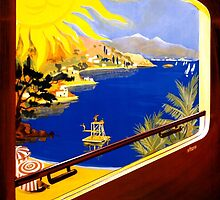 France Vintage Travel Poster Restored by Carsten Reisinger
