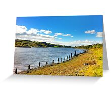 Stone boat River in Colour Greeting Card