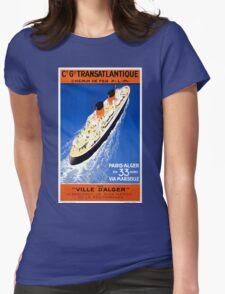 France Cruise Vintage Travel Poster Restored T-Shirt