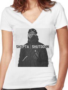 Skepta | Shutdown | T-shirt  Women's Fitted V-Neck T-Shirt