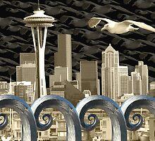 Seattlescape by Dennis  Roy Smigel