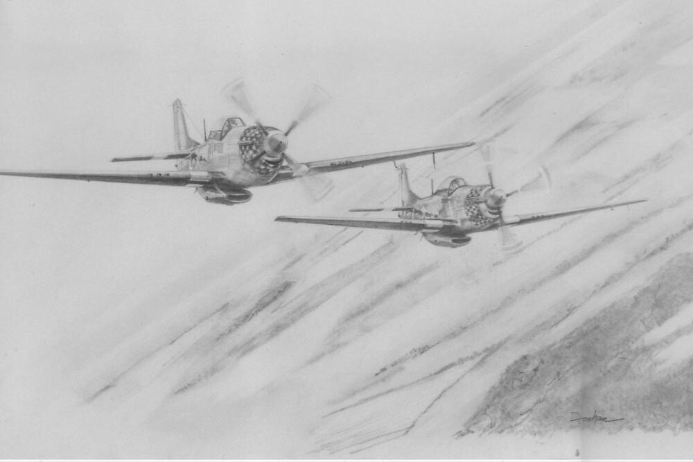 Prowling Mustangs by Tim Forhan