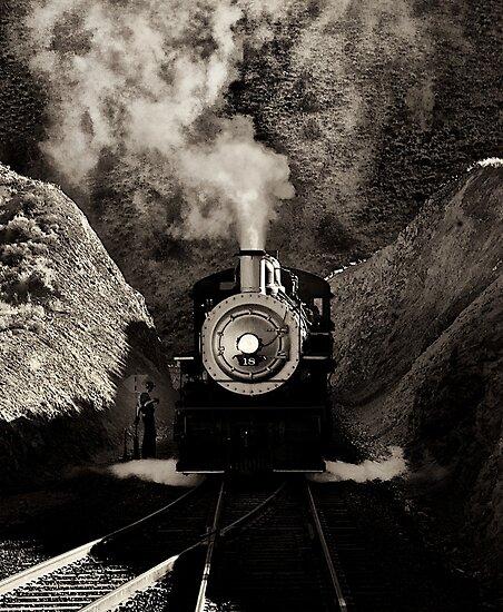 V&T railroads #18 by Jeffrey  Sinnock